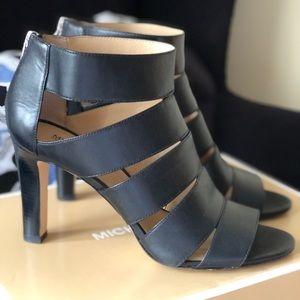 Michael Kors Gisele Open Toe Leather Heels